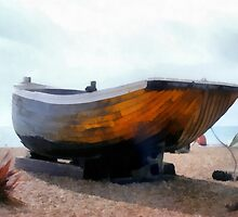 Fishing Boat - Brighton Beach, UK by Mdgraphix