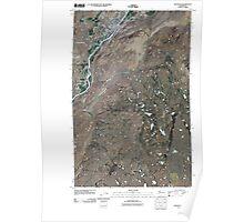 USGS Topo Map Washington State WA Okanogan 20110404 TM Poster