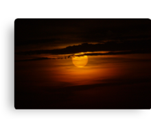 Moody Sunset Canvas Print