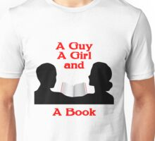 A Guy A Girl and A Book Unisex T-Shirt