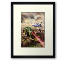 Planet of the Laser Beast Framed Print