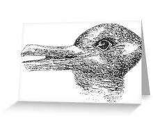 Rabbit, Duck, illusion, Is it a Rabbit or is it a Duck? Optical illusion, visual illusion Greeting Card