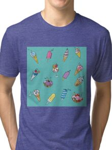 background with ice-cream  Tri-blend T-Shirt