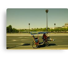 Velo taxi in Paris Canvas Print