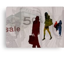 People shopping Canvas Print