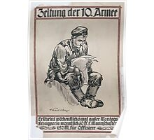Zeitung der 10 Armee 1403 Poster
