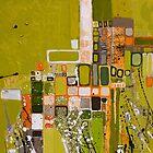 Olive green abstract II. by Miroslava Balazova Lazarova