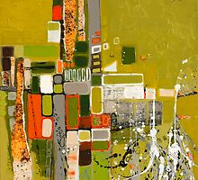 Olive green abstract III. by Miroslava Balazova Lazarova