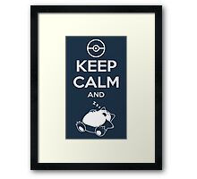 Keep Calm and... zZz Framed Print