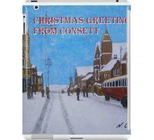 Consett of Old, Front Street, Snow iPad Case/Skin