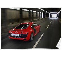 Audi R8 V10 Spyder in Tunnel Poster