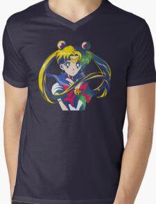 Moon Cosmic Power Mens V-Neck T-Shirt