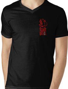 Scoot Devil (red) Mens V-Neck T-Shirt