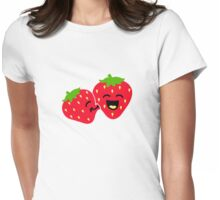 Strawberry Kiss Womens Fitted T-Shirt