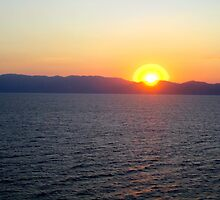 Sunset over the Dardanelles by willJohnson