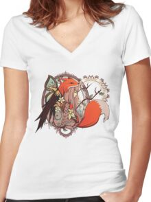 One with Nature Women's Fitted V-Neck T-Shirt
