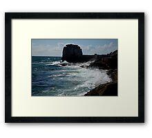 ragged coastline   Framed Print