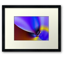 Flame well Framed Print