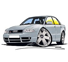 Audi S4 (B5) Silver Photographic Print