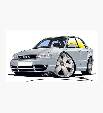 Audi S4 (B5) Silver Photographic Print