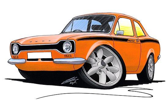 Ford Escort (Mk1) Mexico Orange by Richard Yeomans