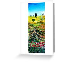TUSCANY LANDSCAPE WITH POPPIES Greeting Card