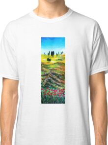 TUSCANY LANDSCAPE WITH POPPIES Classic T-Shirt