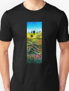 TUSCANY LANDSCAPE WITH POPPIES T-Shirt