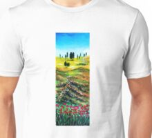 TUSCANY LANDSCAPE WITH POPPIES Unisex T-Shirt
