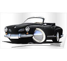 Karmann Ghia Cabriolet Black Poster