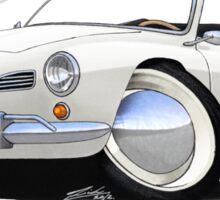 Karmann Ghia Cabriolet White Sticker
