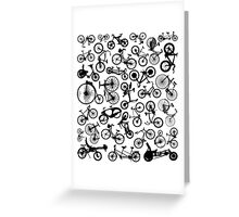 bike bikes Bicycle madness Greeting Card