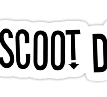 Scoot Devil (horizontal) Sticker