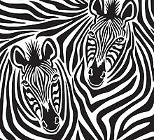 Zebra Couple by Lisann