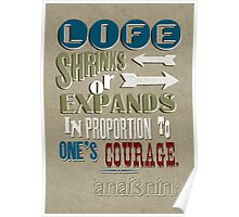 Life Shrinks or Expands Poster