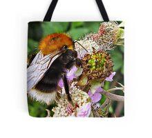 Miss Bee On Her Blackberry Tote Bag