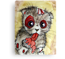 LOL zombie cat Canvas Print