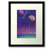 earth to space 1 by pickles Framed Print