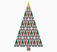 Elf Xmas Tree Kids Tee