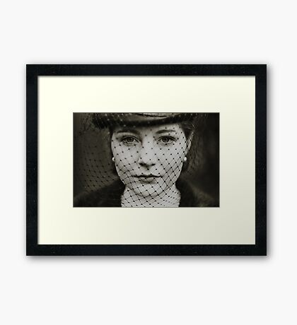 Through the veil. Framed Print