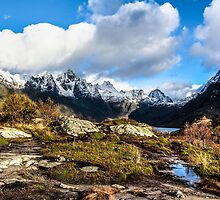 Norwegian Mountains, Snow, and Fjords by pixog