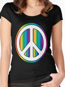 Peace Women's Fitted Scoop T-Shirt