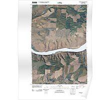 USGS Topo Map Washington State WA Wades Bar 20110429 TM Poster