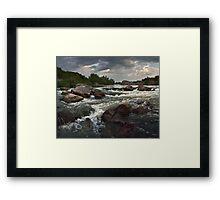 Babbling falls on river Framed Print