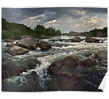 Babbling falls on river Poster