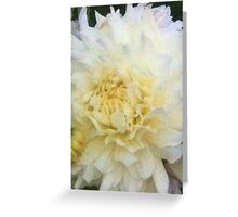 Dahlia pale yellow Greeting Card