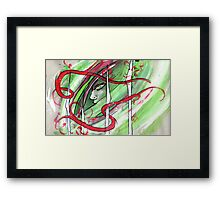 Yonori: Red Ribbons Framed Print