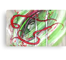 Yonori: Red Ribbons Canvas Print