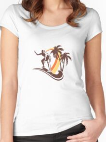 Surfing Women's Fitted Scoop T-Shirt