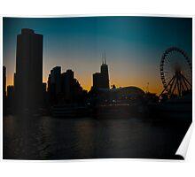 Windy City Sunset Poster